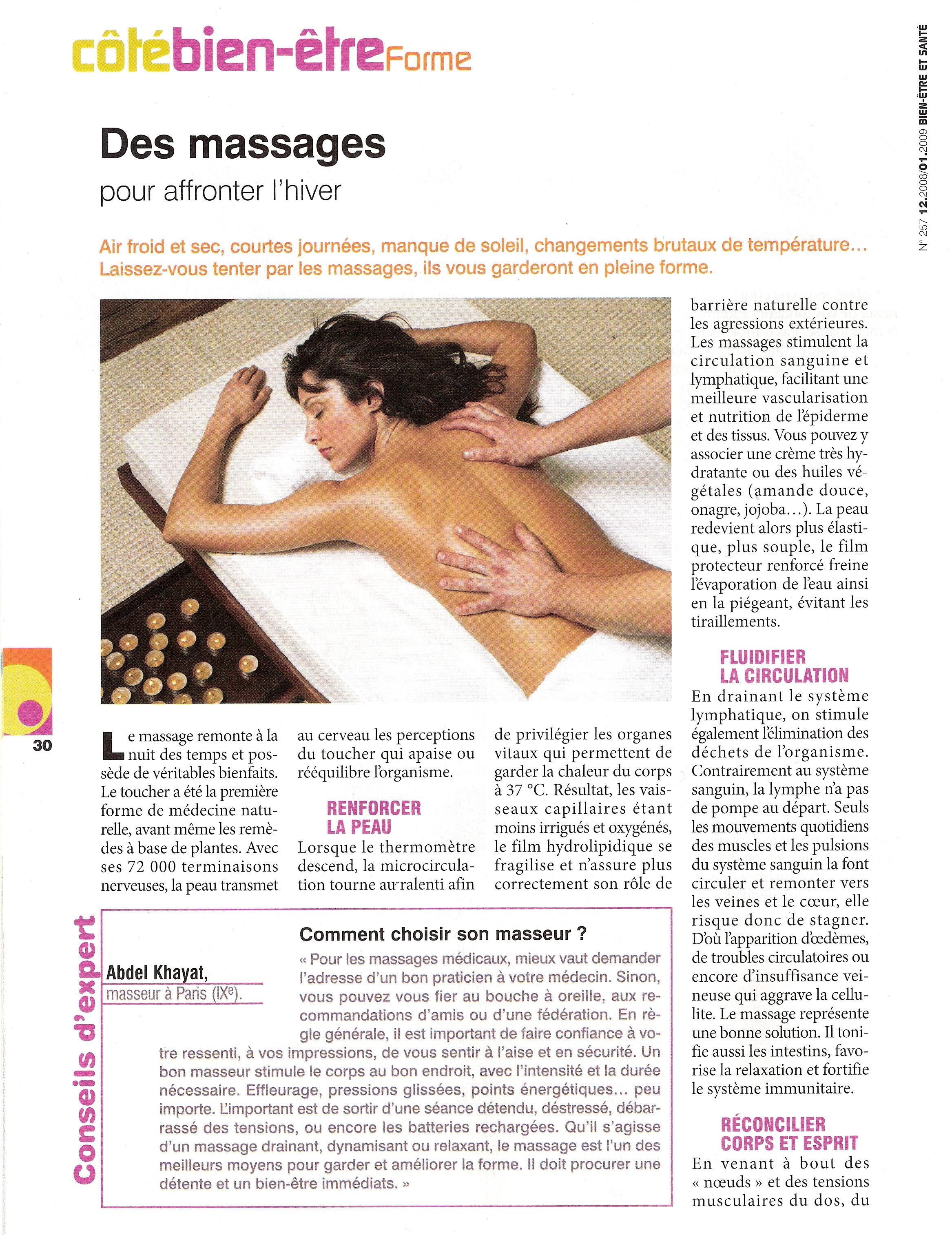 Des massages pour affronter l'hiver